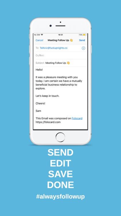 Folocard - Follow Up Email screenshot-3