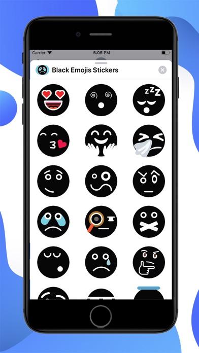 Black Funny Emoji Stickers screenshot 1