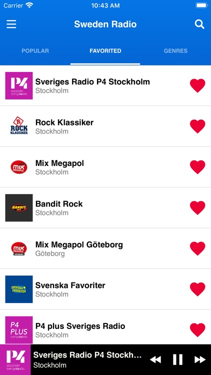 Sweden Radio Stations screenshot-3
