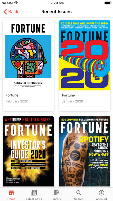 Fortune Magazine review screenshots