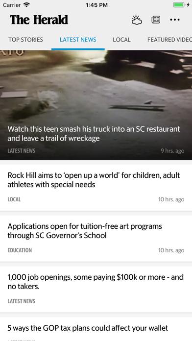 Rock Hill Herald News Screenshot