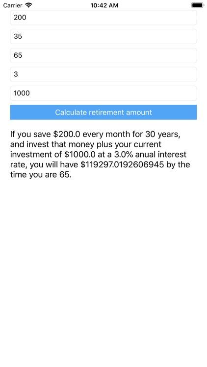 RiskCero's Retirement Calc