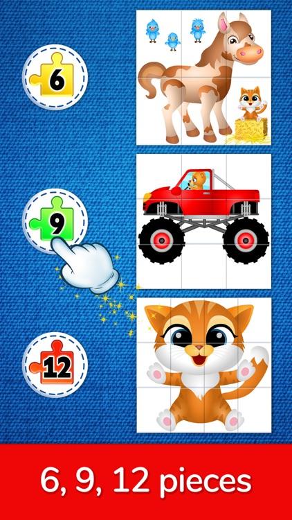 123 Kids Fun Puzzle Blue Games screenshot-5