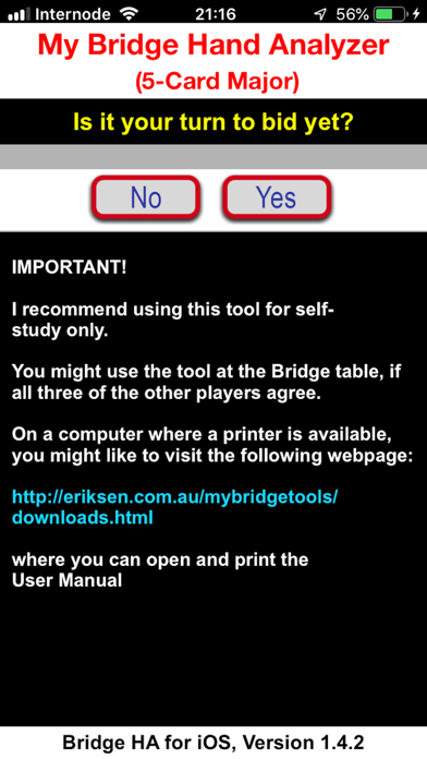 Bridge Hand Analyzer screenshot