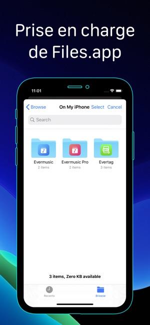 Evermusic: télécharger musique dans l'App Store