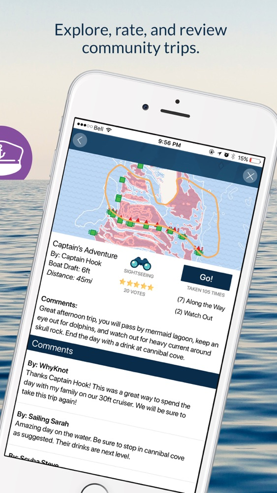 Wavve Boating-Easy Marine GPS App for iPhone - Free Download Wavve