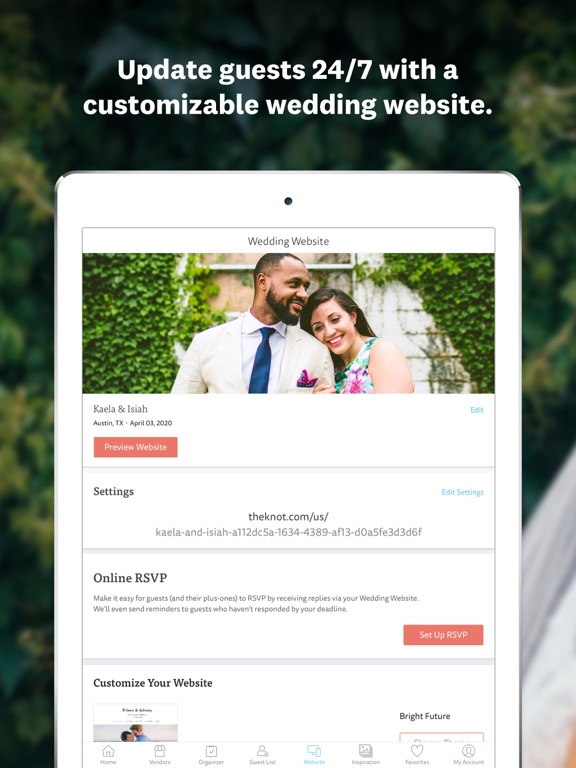 The Knot Wedding Planner: Ideas, Wedding Countdown, Checklist, Vendors, and More screenshot