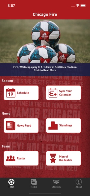 newest 6ba1f eb16f Chicago Fire Soccer Club on the App Store