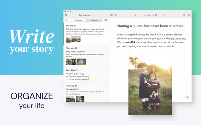 Diarly Daily Diary Journal On The Mac App Store