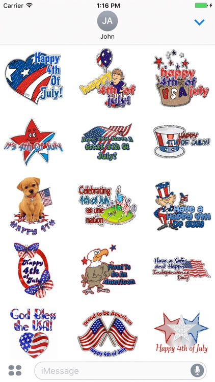 4th Of July GIF Stickers
