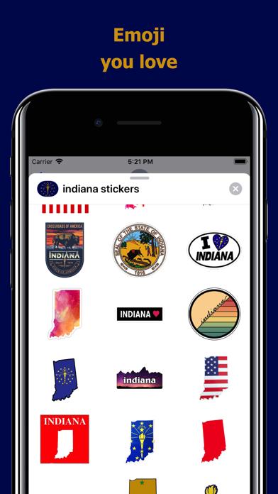 Indiana emojis - USA stickers screenshot 2