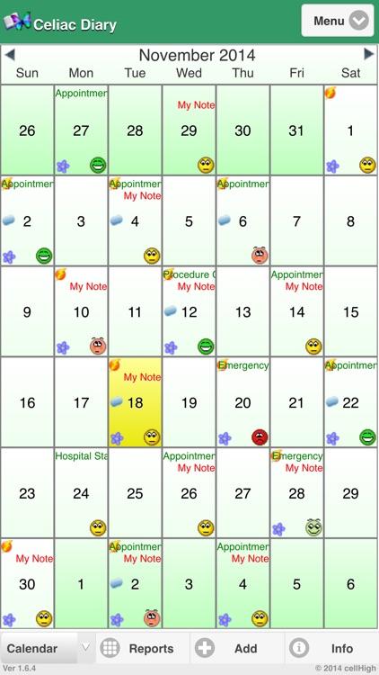 Celiac (Coeliac) Diary