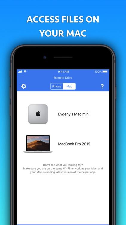 Remote Drive for Mac [Pro] screenshot-1