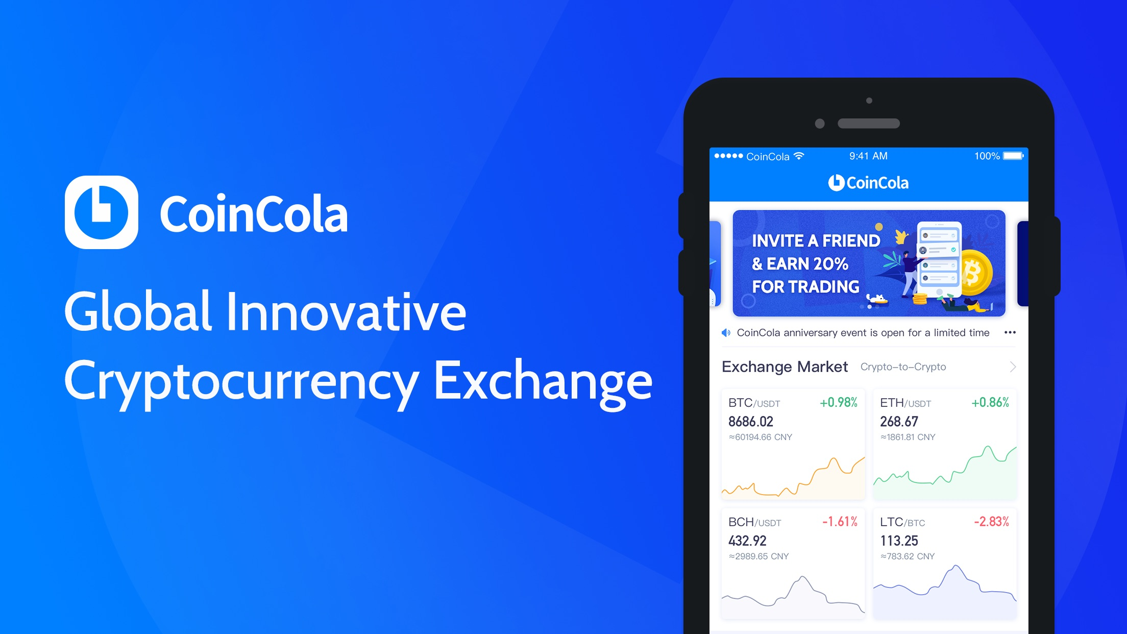 CoinCola – Buy Bitcoin Screenshot