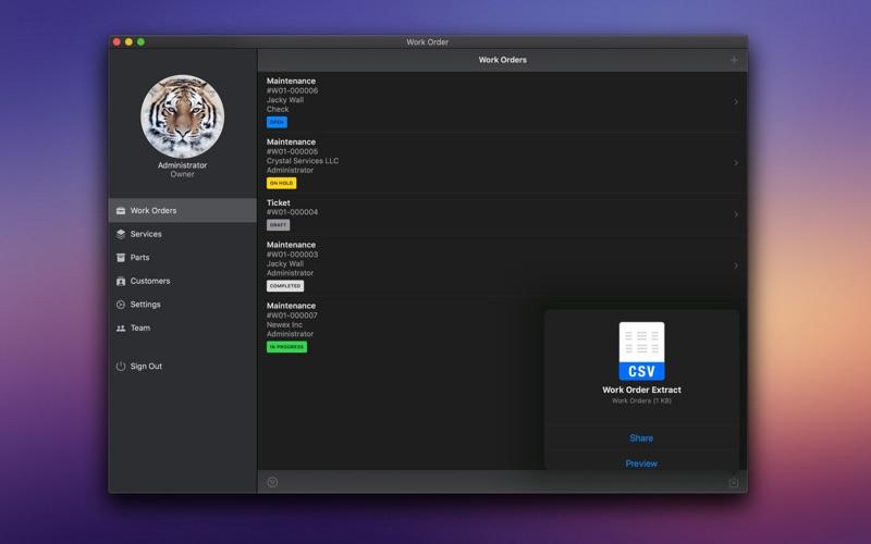 业务工作单 for Mac