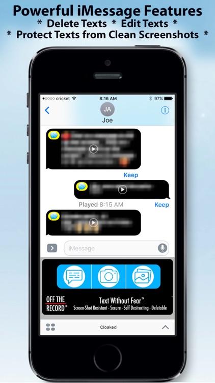 Off The Record Texting & Pics screenshot-5