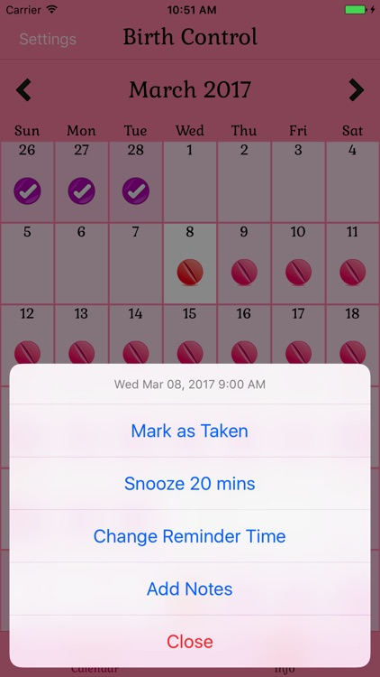 Birth Control Pill Reminder screenshot-3