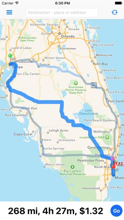 Toll Calculator GPS Navigation screenshot-0