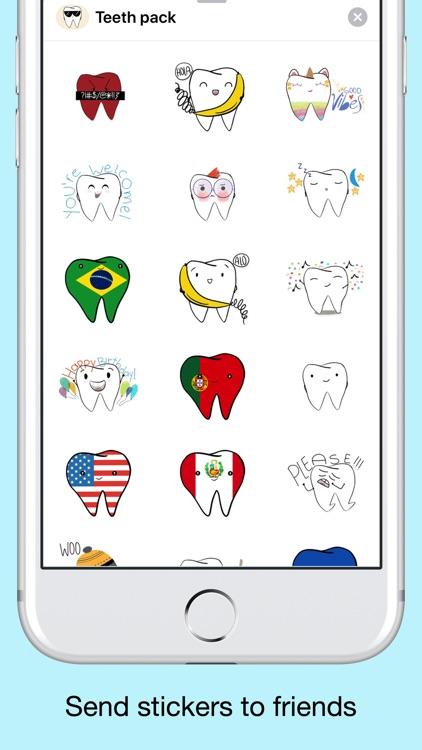 Teeth Emojis & Smiley stickers screenshot-3