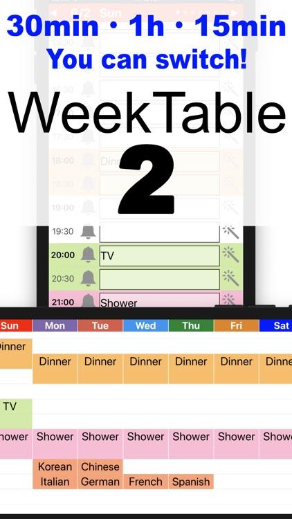 WeekTable2-Pro Weekly creator