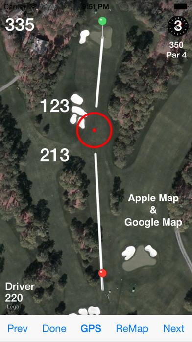 Golf GPS Rangefinder Scorecard Screenshot