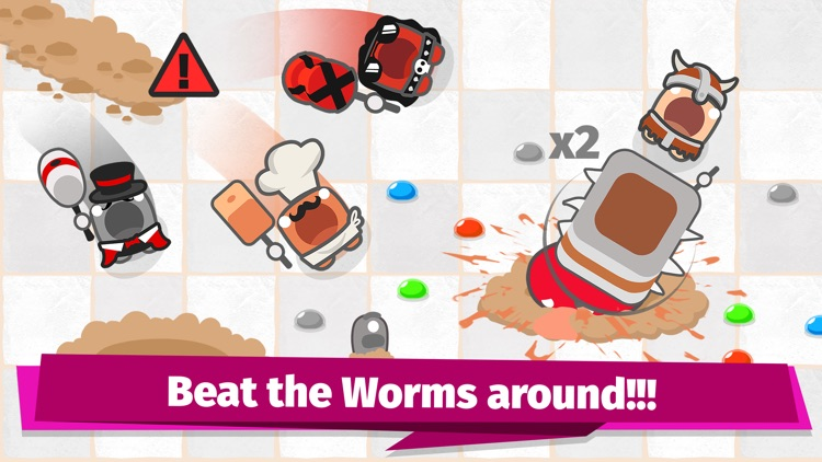 Smashers.io Foes in Worms Land