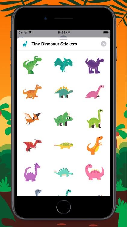 Tiny Dinosaur Stickers screenshot-3