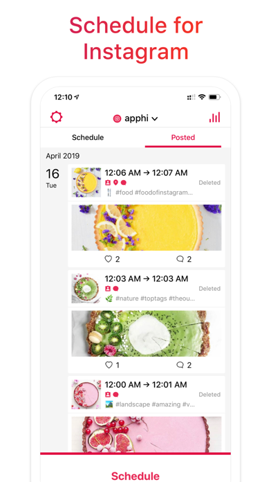 Apphi: Schedule, Post, Plan