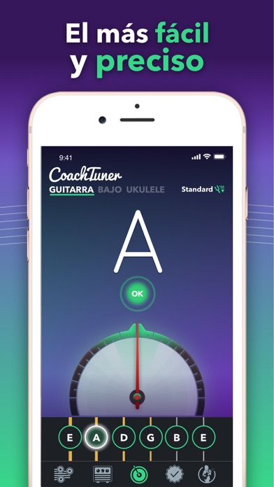 Screenshot for Afinador de guitarra fácil in Chile App Store