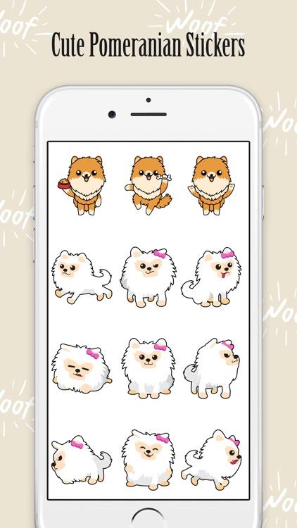 Pomeranian Puppy Stickers Cute
