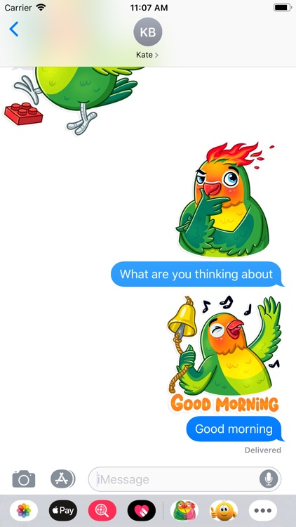 Love Birds Life Stickers screenshot-3