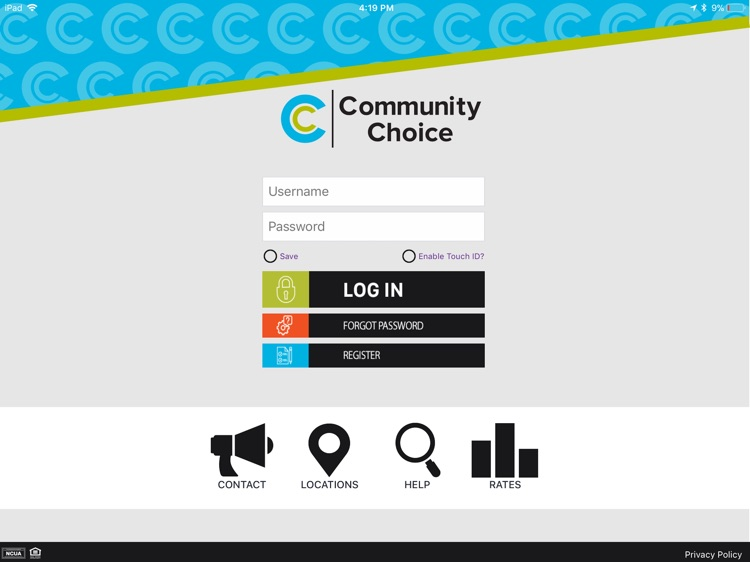 Community Choice CU for iPad screenshot-0