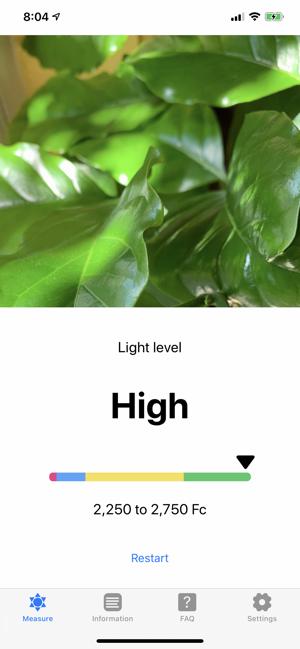 Plant Light Meter Screenshot
