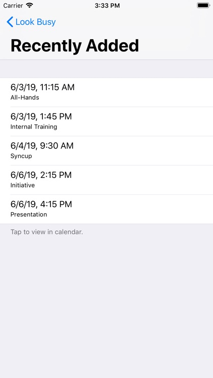 #LookBusy Fake Calendar Events screenshot-3