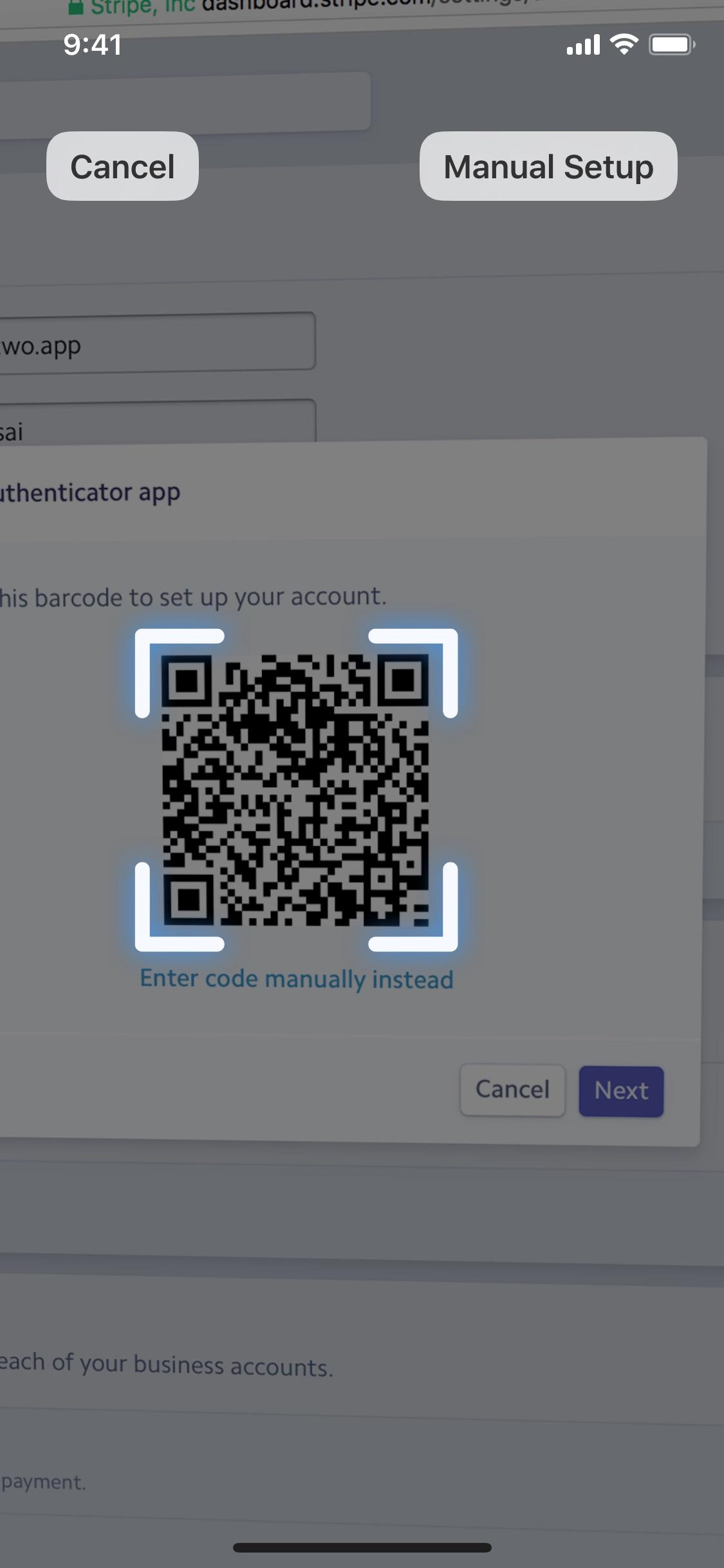 Screenshot do app Step Two