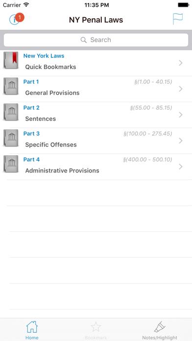 NY Penal Code & Laws screenshot one
