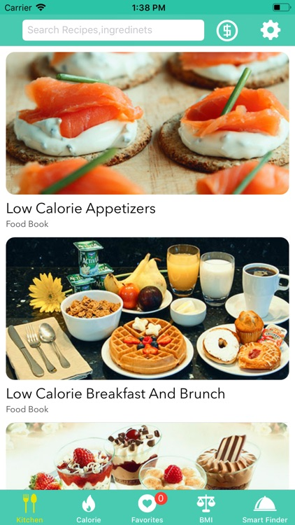 Low Calorie Recipes & Counters