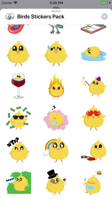 Birds Stickers Pack app image