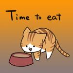 Orange and white cat stickers