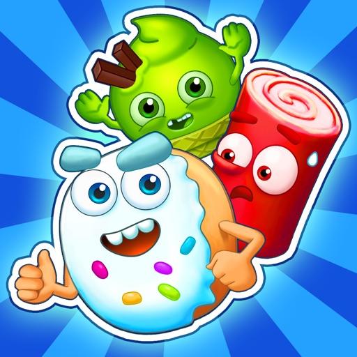 Сахарные герои: игра 3-в-ряд!