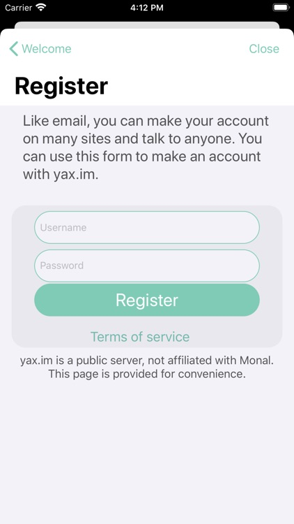 Monal - XMPP chat screenshot-5