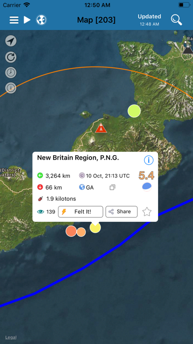 Earthquake+ Alerts, Map & Info Screenshot