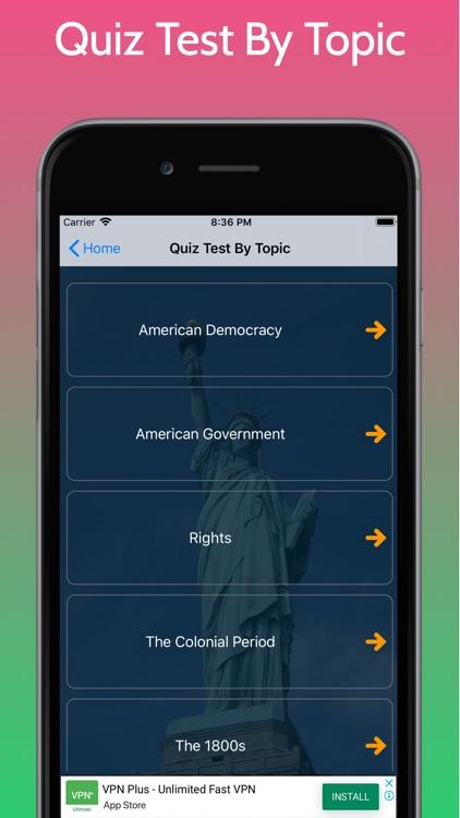 US Citizenship Test - Civics screenshot-5
