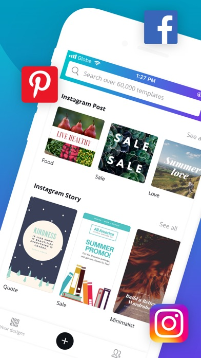 App Store Screenshot of Canva - Graphic Design Creator