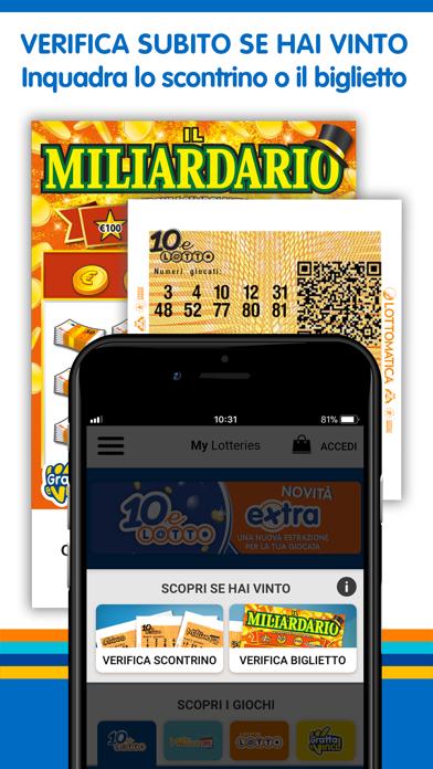 Screenshot of My Lotteries: Verifica Vincite2