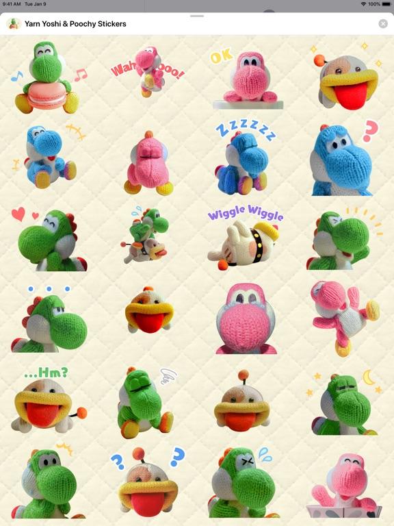 Yarn Yoshi & Poochy Stickers screenshot 4