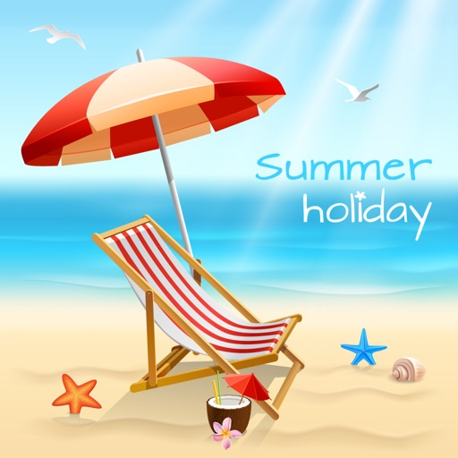 Beach Holiday Stickers Pack
