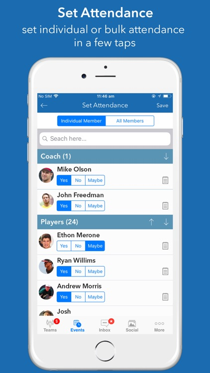 InstaTeam sports team manager screenshot-6