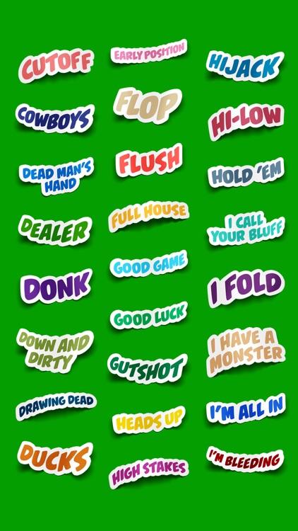 Poker Terms Sticker Pack screenshot-4
