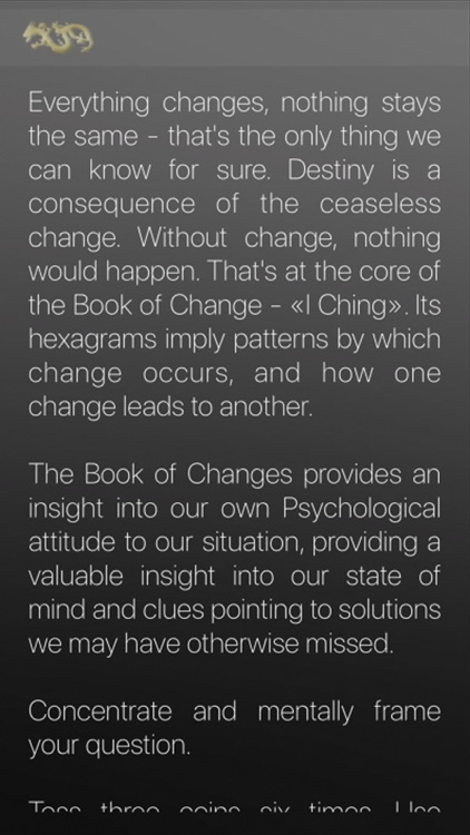 The Book of Changes - I Ching